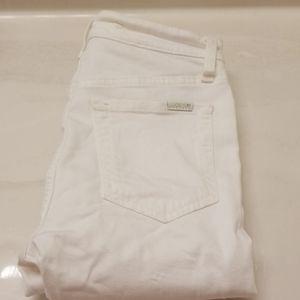 Joe's white high rise Skinny jeans sz 24